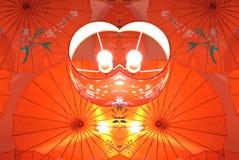 Lampada rossa cinese caleidoscopica per la decorazione interna Immagine Stock