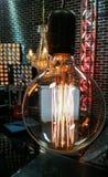 Lampada rotonda di Edison retro Fotografie Stock