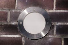 Lampada rotonda incorporata Immagini Stock Libere da Diritti