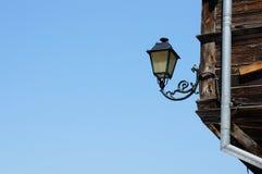 Lampada su costruzione Fotografia Stock