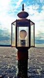 Lampada sul lago immagine stock