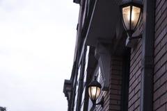 Lampada sulla casa Immagini Stock Libere da Diritti