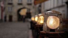 Lampada sulla vecchia via Fotografie Stock Libere da Diritti