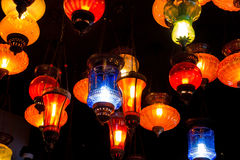 Lampada variopinta Fotografia Stock