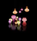 Lampada variopinta del lampo Fotografie Stock