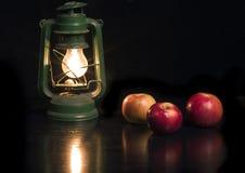 Lampada verde Fotografie Stock