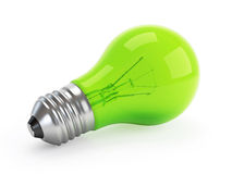 Lampada verde di Eco Fotografie Stock Libere da Diritti