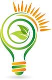 Lampada verde di energia Fotografie Stock Libere da Diritti