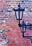 Lampada-via nella vecchia città di Riga Fotografia Stock