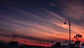 Lampadaire au crépuscule Image libre de droits
