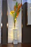 Lampadaire dans la fenêtre de boutique Images stock