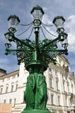 Lampadaire de Prague Image stock