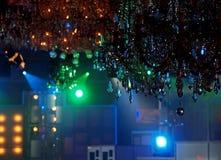 Lampadari a bracci a cristallo in studio Fotografie Stock