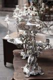 Lampadari a bracci d'argento Fotografie Stock Libere da Diritti