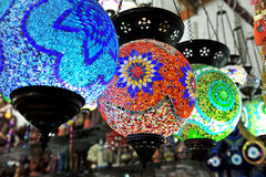 Lampadari a bracci multicolori Fotografie Stock Libere da Diritti