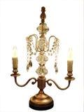 Lampadario a bracci decorato della lampada della Tabella Fotografia Stock