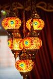 Lampade asiatiche Colourful del mosaico immagini stock