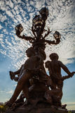 Lampade bronzee sul ponte di Alessandro III Fotografie Stock Libere da Diritti