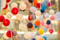 Lampade chiare rotonde asiatiche sudorientali Fotografie Stock