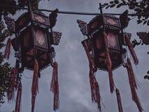 Lampade cinesi Fotografia Stock