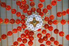 Lampade cinesi rosse Fotografia Stock