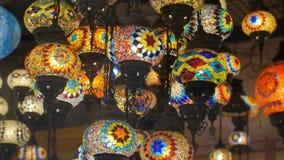 Lampade Colourful del mosaico stock footage
