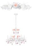 Lampade dell'annata di luna di miele | Isolato fotografie stock libere da diritti