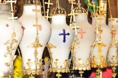 Lampade della chiesa., Fotografie Stock