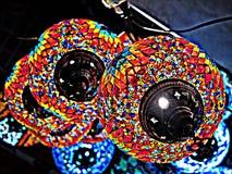 Lampade delle sfere nel bazar di Costantinopoli Fotografie Stock