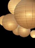 Lampade di carta dell'aerostato Fotografie Stock