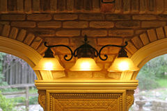 Lampade di disegno di architettura Fotografia Stock