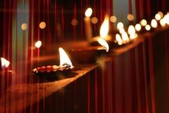 Lampade di Diwali fotografia stock