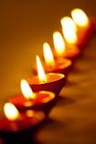 Lampade di Diwali Fotografie Stock Libere da Diritti