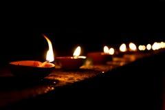 Lampade di Diwali Immagini Stock Libere da Diritti