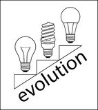 Lampade di evoluzione Fotografia Stock Libera da Diritti