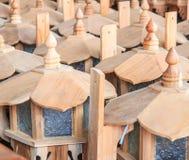 Lampade di legno Fotografia Stock
