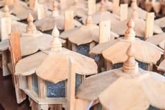 Lampade di legno Fotografie Stock