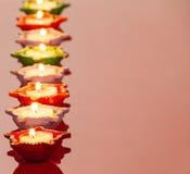 Lampade di Lit per il festival indù di Diwali Fotografie Stock Libere da Diritti