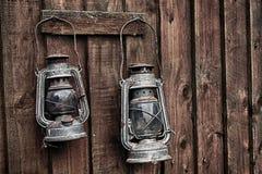 Lampade di minatori Immagine Stock