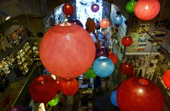 Lampade di pendente della palla Fotografia Stock Libera da Diritti