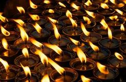 Lampade di preghiera Immagini Stock