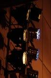 Lampade di proiezione variopinte di concerto su fondo Fotografia Stock Libera da Diritti