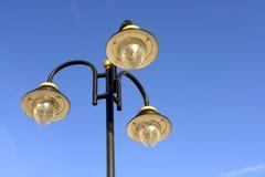 Lampade di via decorate Immagini Stock