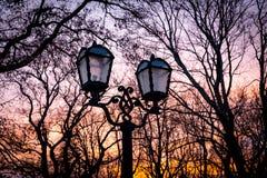 Lampade di via di vecchio stile Fotografia Stock Libera da Diritti