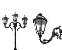 Lampade di via isolate Fotografia Stock Libera da Diritti