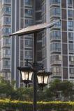 Lampade di via solari Immagini Stock