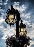 Lampade di via a York in Inghilterra il Regno Unito Fotografie Stock