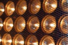 Lampade dietro la griglia Fotografia Stock Libera da Diritti