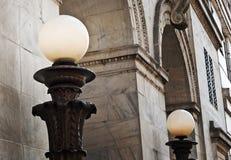 Lampade e arché Fotografie Stock