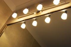 Lampade e specchio fotografie stock